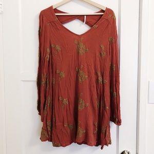Free People Long Sleeved Mini Dress